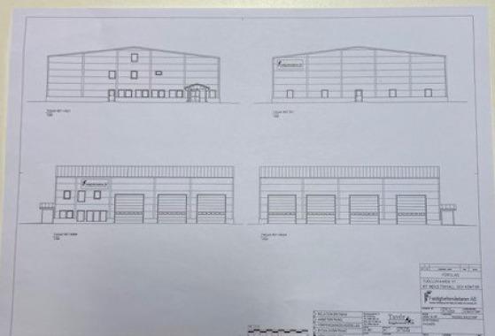 Industrihall och kontor på Nya Industriområdet i Kiruna